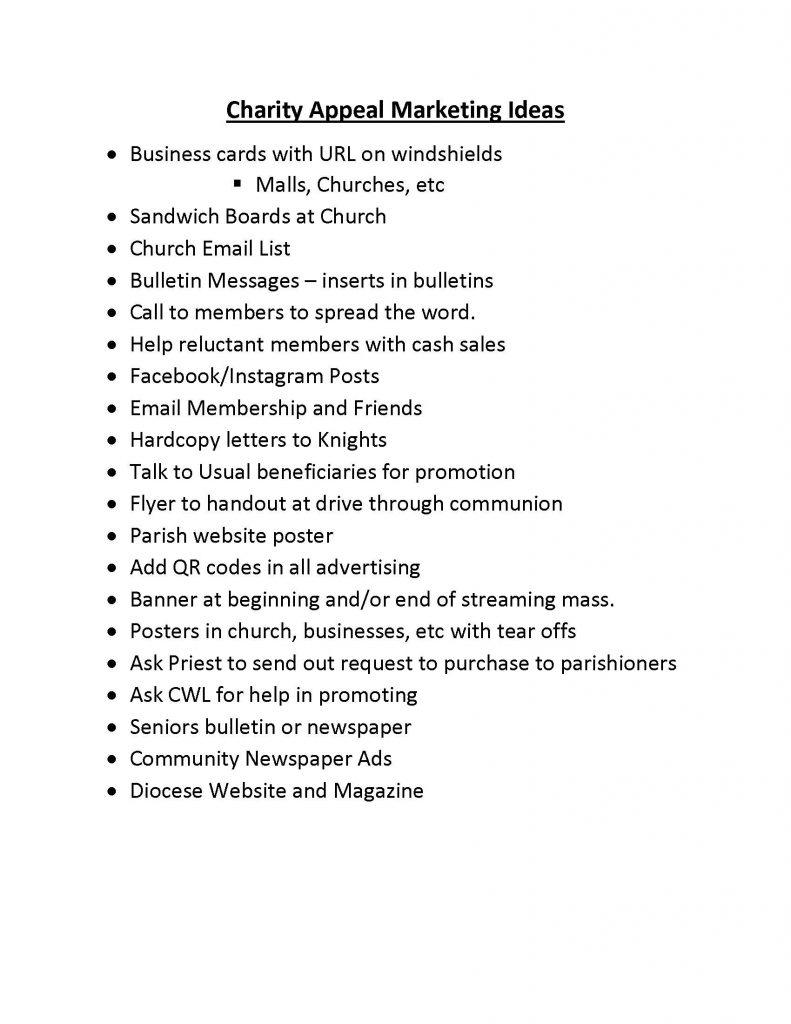 50-50 CA Marketing Ideas