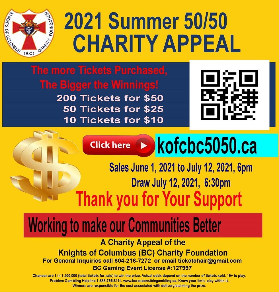 2021 Summer 50-50 Charity Appeal